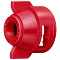 RED AIR INDUCTION-TWIN CAP W/ GASKET