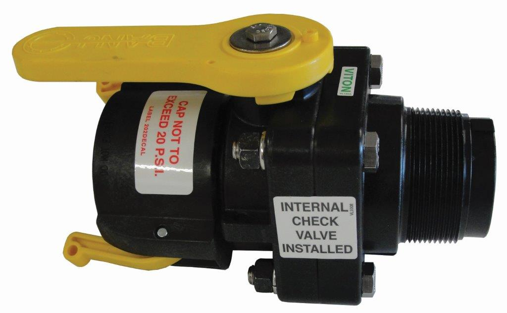 "2"" MPT X 2"" FPT SNYDER CHECK BALL VALVE WITH CAP"